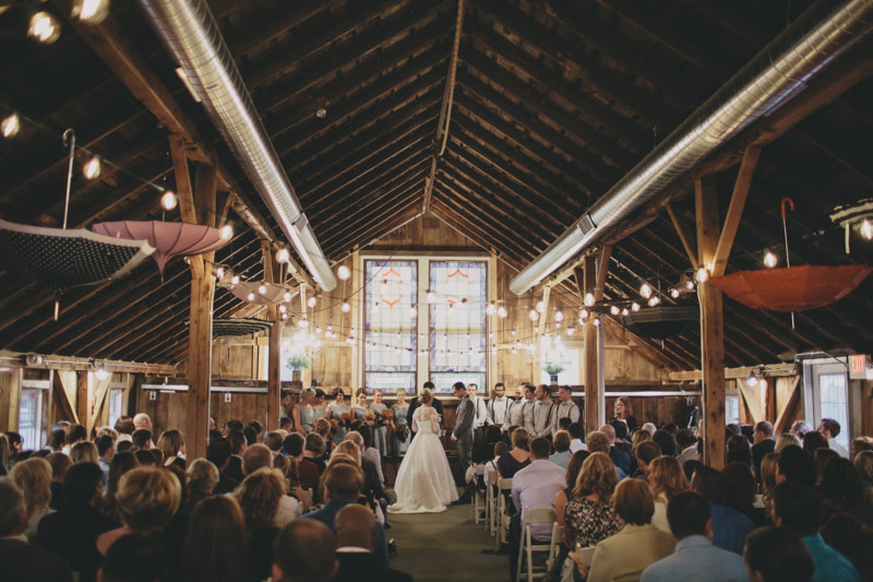 Wedding in The Barn at Harvest Moon Pond