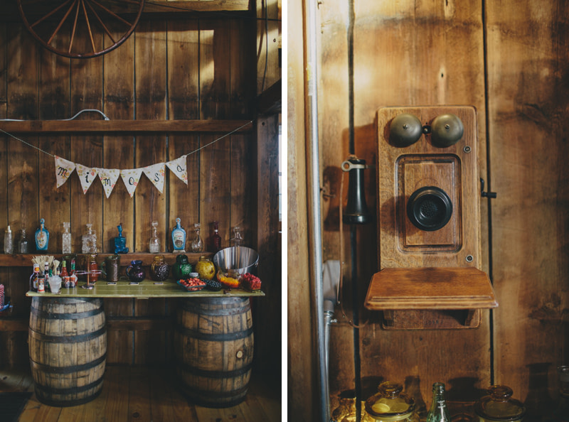 wedding details - harvest moon barn