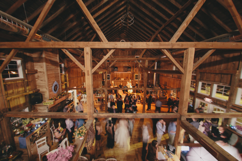 wedding dance in the barn